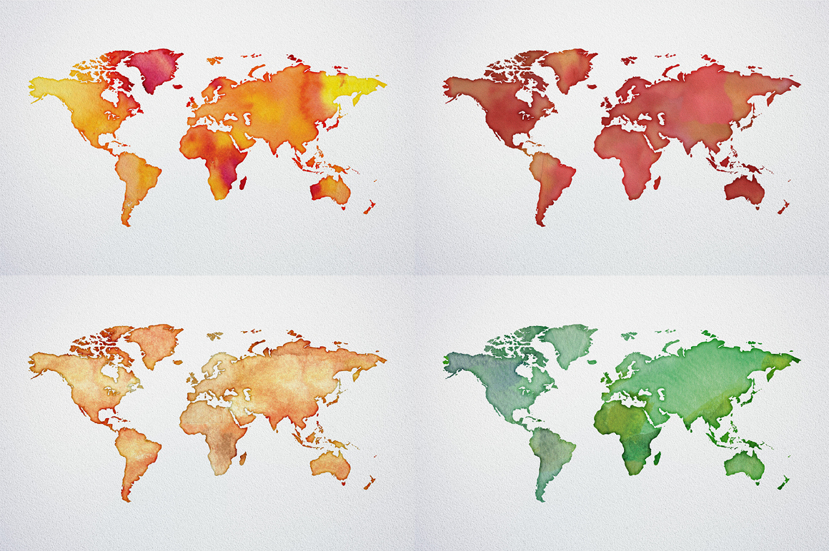 Watercolor world maps jpgepspng graphic spirit previousnext gumiabroncs Images