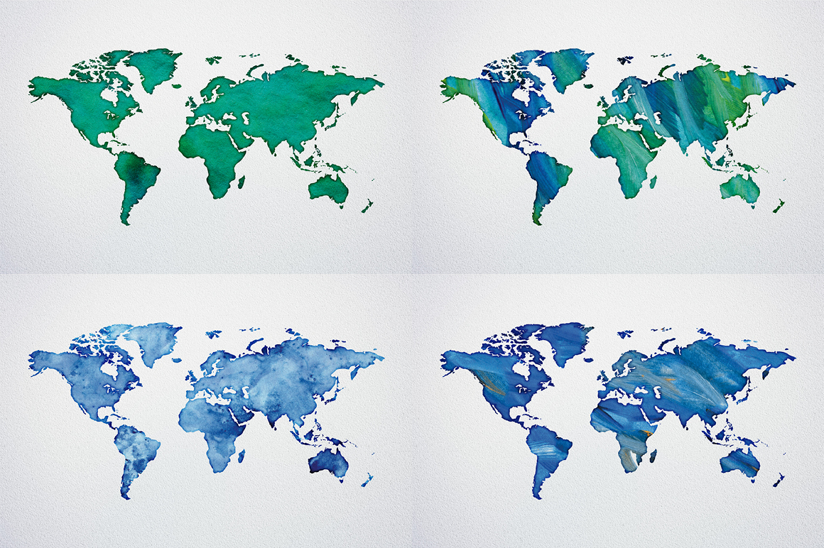 Watercolor world maps jpgepspng graphic spirit previousnext gumiabroncs Choice Image